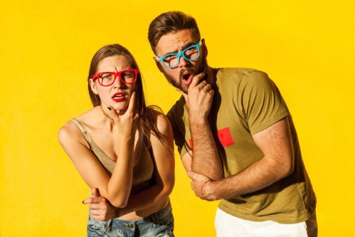 Types of Laser Eye Surgery - man and woman with their hands on their chin concentrating